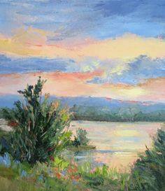 Original art for sale at UGallery.com   Sun Up along the Brazos by Sheri Jones  oil painting   16' h x 20' w