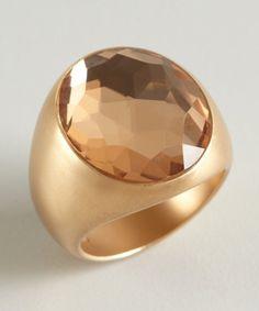 Pomellato : estate gold and quartz 'Narciso' ring : style # 323169001