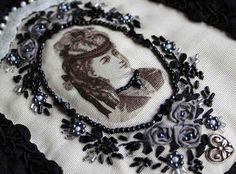 転写とリボン刺繍