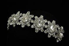 Enchanting Rhinestone Headband Elena Designs E339 - Affordable Elegance Bridal -