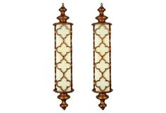 Moroccan-Style Pendant Lights, Set of 2
