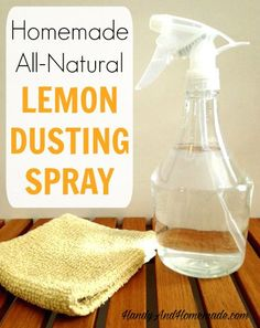 DIY Homemade Natural Lemon Dusting Polish Spray With Essential Oils