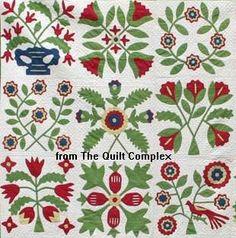Free Baltimore Album Quilt Blocks | Baltimore Album Quilt: The Finest of Autograph Sampler Quilts