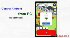 How to remote control Android from PC Using USB Cable :http://tabaxis.com/control-android-via-usb-cable/