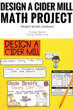 Design a Cider Mill - Fall Math Project - Project Based Learning - PBL - Love Math, Fun Math, Math Activities, 5th Grade Classroom, Middle School Classroom, Math Projects, Mentor Texts, Math Concepts, Special Education Teacher