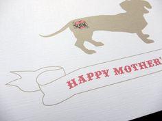 Dachshund with a Mom Tattoo Single Card by byMMcC on Etsy