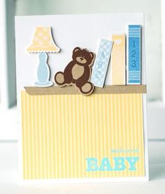 Baby Books & Bear Card by Betsy Veldman for Papertrey Ink (June 2013)