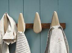 Dark Oak Wooden Coat Rack - home accessories £44