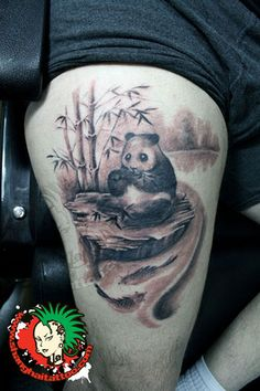 Panda Tattoo by Shanghai Tattoo, via Flickr