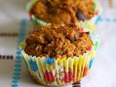 Vegan Pumpkin Bran Muffins with Protein Powder Recipe by Madhuram Vegan Blueberry Muffins, Lemon Poppyseed Muffins, Cranberry Muffins, Blue Berry Muffins, Vegan Pumpkin, Pumpkin Recipes, Allergy Free Recipes, Vegan Recipes, Vegan Ideas