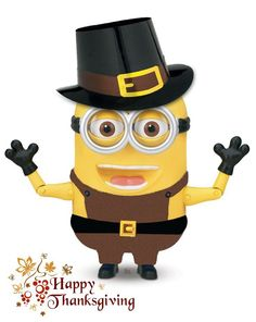 happy thanksgiving everyone from a minion Disney Thanksgiving, Thanksgiving Wishes, Thanksgiving Pictures, Thanksgiving Crafts, Holiday Wishes, Cute Minions, Minions Despicable Me, My Minion, Minion Stuff