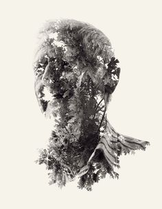 We are Nature / Photography - by Christoffer Relander of Finland  http://www.behance.net/gallery/We-Are-Nature-Multiple-Exposure-Portraits-Vol-II/4454689