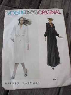 Vintage Vogue Paris Original Pierre Balmain Dress Pattern