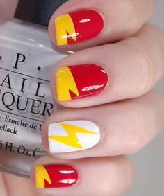 The Hottest Nail Polish Trends for Fall This looks like the Big Bang theory nails!