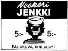 Mainos: Neekeri-Jenkki,1956