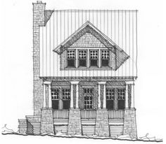 Allison Ramsey Architects | Floorplan for The Stoney Knob - 1748 square foot house plan # NC0031