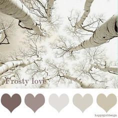 color board ~ Adoring these muted colors - perfect for house colors or a winter scrapbook look.