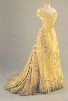 Edwardian Style Yellow Evening Dress... It's like Belle