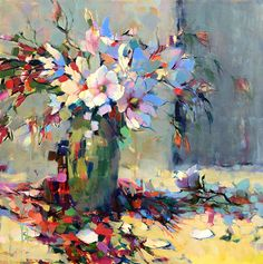 Profusion of Magnolia Blossoms by Trisha Adams, Oil, 36 x 36 x standard Art Floral, Impressionist Paintings, Landscape Paintings, Selling Paintings, Painting Competition, Guache, Still Life Art, Online Painting, Abstract Flowers