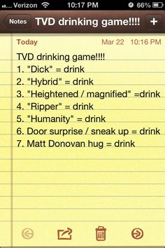 The Vampire Diaries drinking game!! #TVD