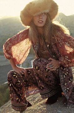 1970′s Model, from the book»Gypset Style» by Julia Chaplin