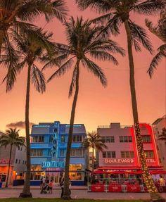 Miami Beach Party, South Beach Miami, Miami Florida Map, Miami Sunset, Miami Ocean Drive, Beach At Night, Magic City, Night Life, Places To See