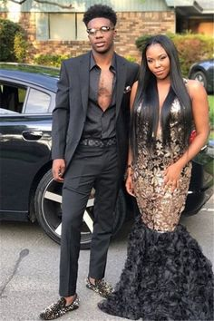 Black And Gold Outfit, Black Two Piece, Prom Dresses, Formal Dresses, Hot Dress, Well Dressed, Dress For You, Mens Suits, Handsome
