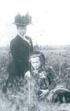 Olga with her Grandmama, Dowager Empress Marie Feodorovna