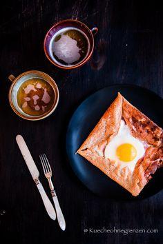 Bretonischer Galette mit Bergkäse, Ei und Chiasamen - Ein simples und köstliches Rezept für Ostern