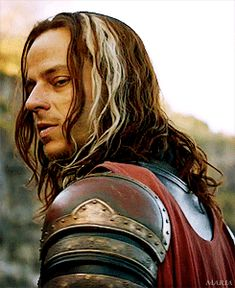 Jaqen H'ghar.  Like to see him a lot more.  Very interesting character.  A face changer,(like Tonks?), he has given Arya a way to call for help.