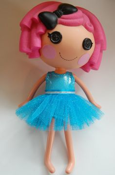 Blue Sparkle Ballerina Tutu and Swimsuit - Doll Clothes for Lalaloopsy by TKCT