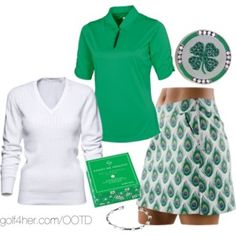 Ladies Golf OOTD: Emerald Green and Peacock