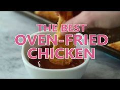 This is the BEST Oven Fried Chicken recipe! It comes crispy right out of the oven, is much lower in fat and made with lean chicken breast. It takes just like KFC but it's baked instead of fried! Includes step by step recipe video. Baked Fried Chicken, Oven Chicken, Fried Chicken Recipes, Meat Recipes, Cooking Recipes, Chicken Tenders, Best Oven, Fries In The Oven, Food Dishes
