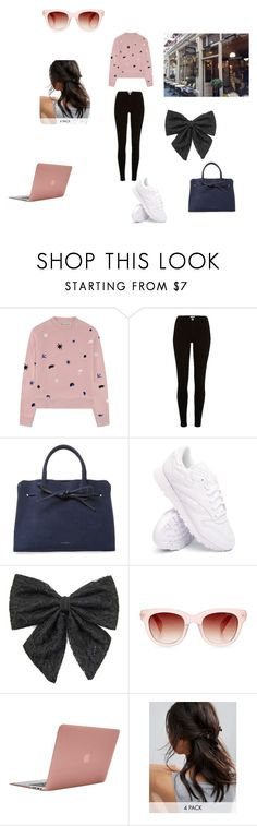 """""""Typing off with coffee"""" by limebooky on Polyvore featuring Être Cécile, River Island, Mansur Gavriel, Reebok, Carole, Incase, ASOS and Barker"""