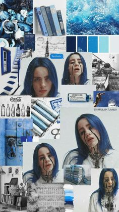 Lost in Icons - Wallpapers - Billie Eilish - Página 3 - Wattpad Billie Eilish, Aesthetic Iphone Wallpaper, Aesthetic Wallpapers, Photo Book, Baby Popo, Album Cover, Blue Wallpapers, Blue Aesthetic, Slimming World