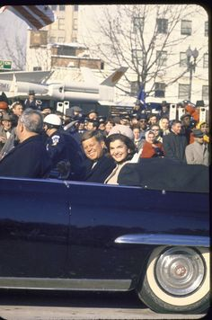 President John Kennedy & Jacqueline in the Inaugural Parade, Friday, January 20, 1961