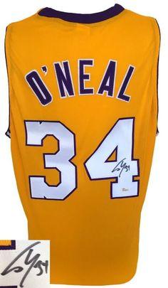 Shaquille O'Neal Signed Custom Yellow Pro-Style Basketball Jersey JSA