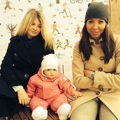Nastya with Mommy Anna &  Godmother Eugenia _Oct 20-2013. [ 10 months. ] # InstaFamily.