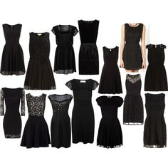 so, I need a cute little black cocktail dress for recruitment- here are some ideas