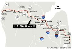 us+20+bike+route | In Michigan USBRS 20 is underway, with USBRS 35 soon to follow. The ...