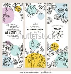 Find Botanical Banner Collection Organic Cosmetic Vector stock images in HD and millions of other royalty-free stock photos, illustrations and vectors in the Shutterstock collection. Graphisches Design, Label Design, Print Design, Tea Packaging, Packaging Design, Branding Design, Rollup Design, Prospectus, Cosmetic Design