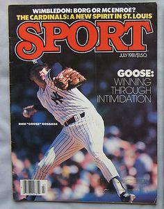 1981 SPORT RICH GOOSE GOSSAGE YANKEE