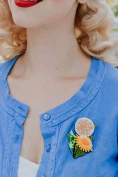 Flower Power, Retro Fashion, Affair, Pin Up, Brooch, Floral, Flowers, Prints, How To Wear