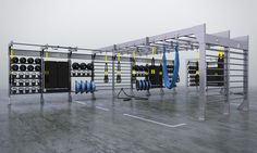 Customized storage solutions for today's hottest equipment including TRX®, Bosu®, Vipr™, Antigravity Fitness™, BodyBar®, Crosscore™, and Dynamax®.