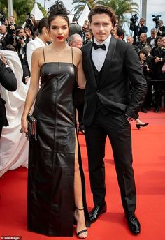 Spat: Brooklyn Beckham's girlfriend Hana Cross reportedly 'lashed out' at the budding photographer during an explosive row at the Cannes Film Festival Brooklyn Beckham Girlfriend, Evening Pictures, Cannes Film Festival, Hana, The Row, Girlfriends, Victoria, Hollywood, Street Style