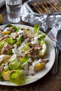 Cheats' Home Smoked Mackerel Salad