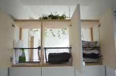 脱衣⇔洗濯室をつなぐ機能的な棚