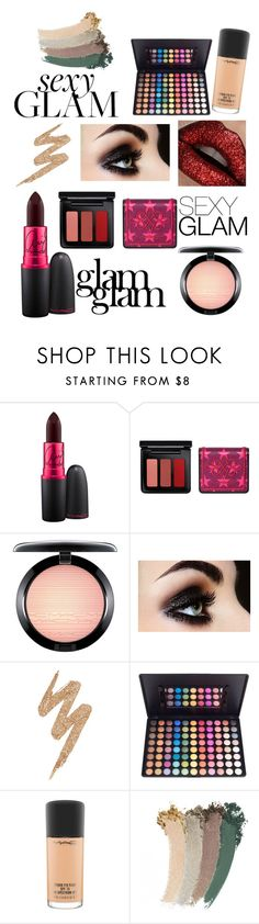 """""""Glam"""" by vika-krut ❤ liked on Polyvore featuring beauty, MAC Cosmetics, Naeem Khan, Urban Decay, Gucci and goglam"""