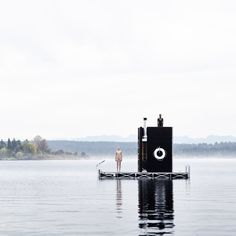 Visitors can take a plunge into Seattle s Lake Union after warming up in this floating wooden sauna by go c studio. via dezeen- design, floating, sauna Dezeen Architecture, Nature Architecture, Floating Architecture, German Architecture, Mobile Architecture, Interior Architecture, Interior Design, Scandinavian Saunas, Mobile Sauna
