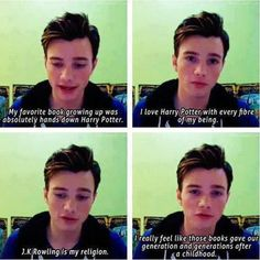 One more reason to Love Chris Colfer<3